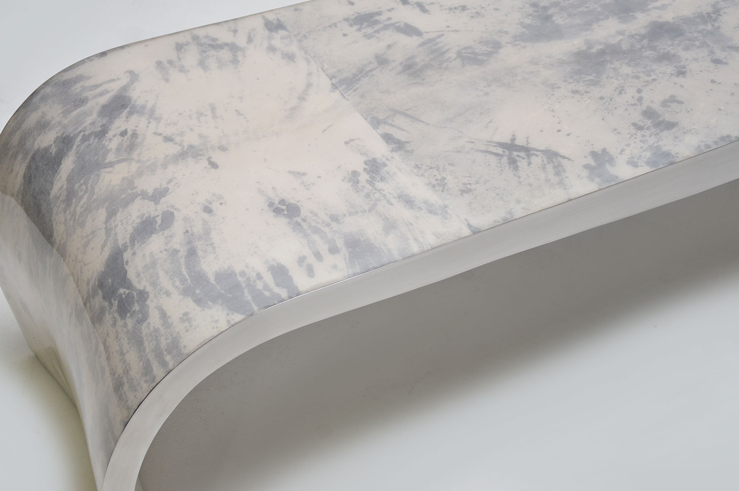 Concave Bench - Goatskin/Stainless 4