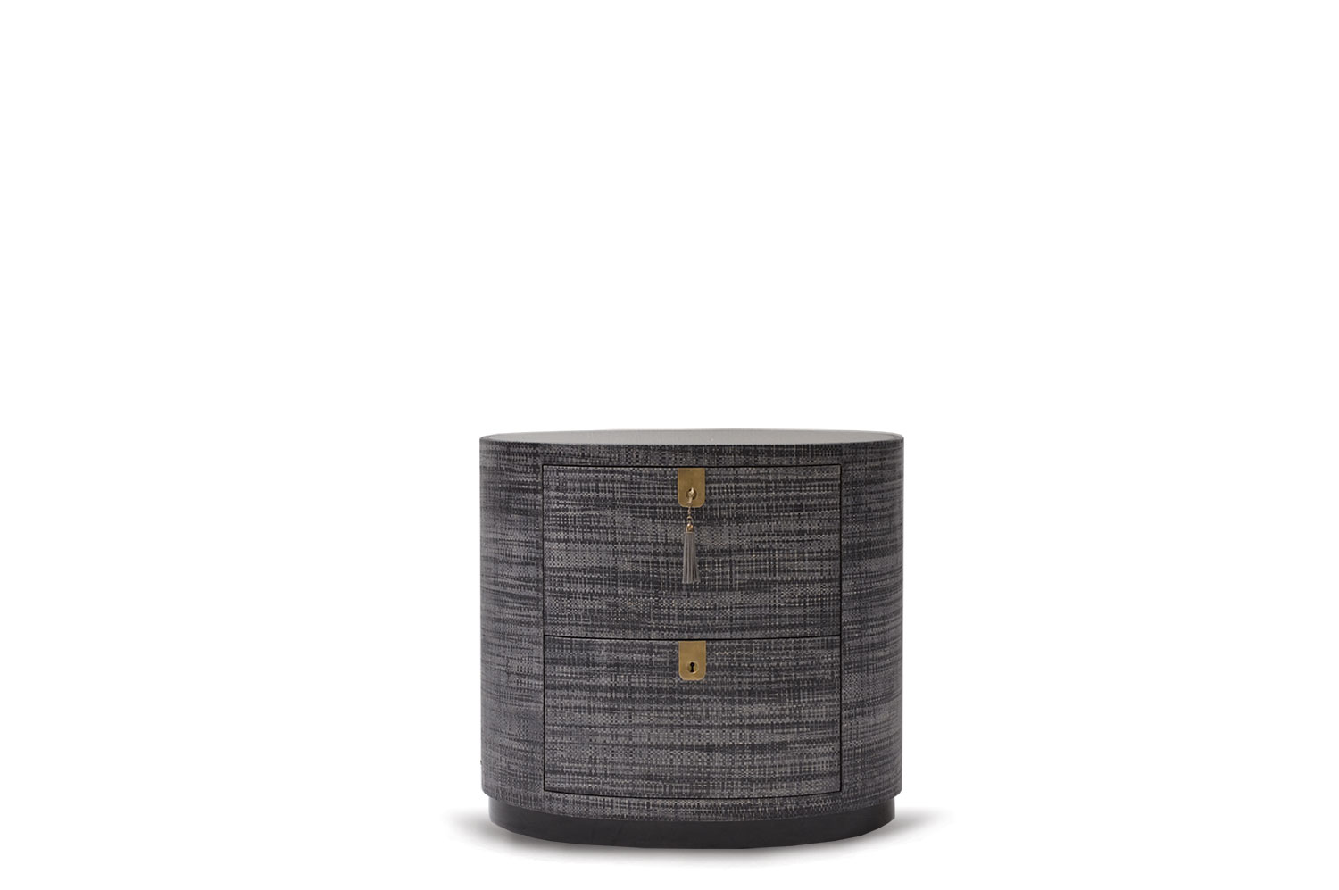 Oval Raffia Bedside Table 2