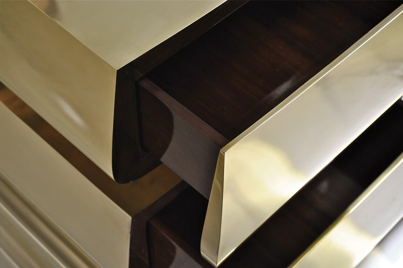 2 Tier Side Table - Brass 4
