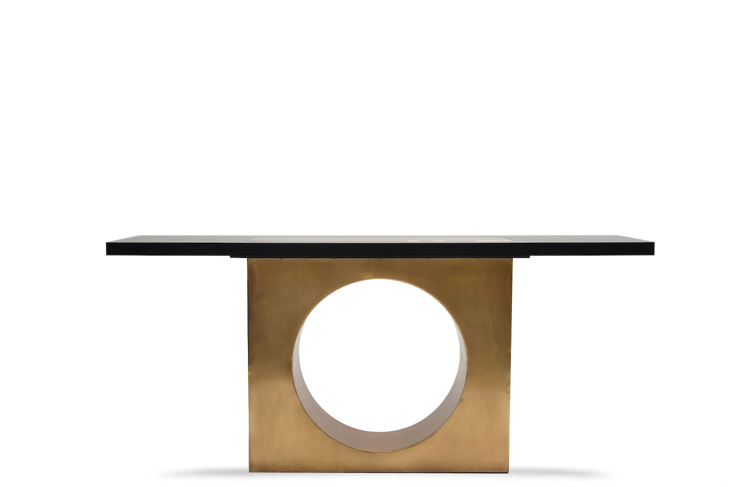 Square Hole Brass Console 2