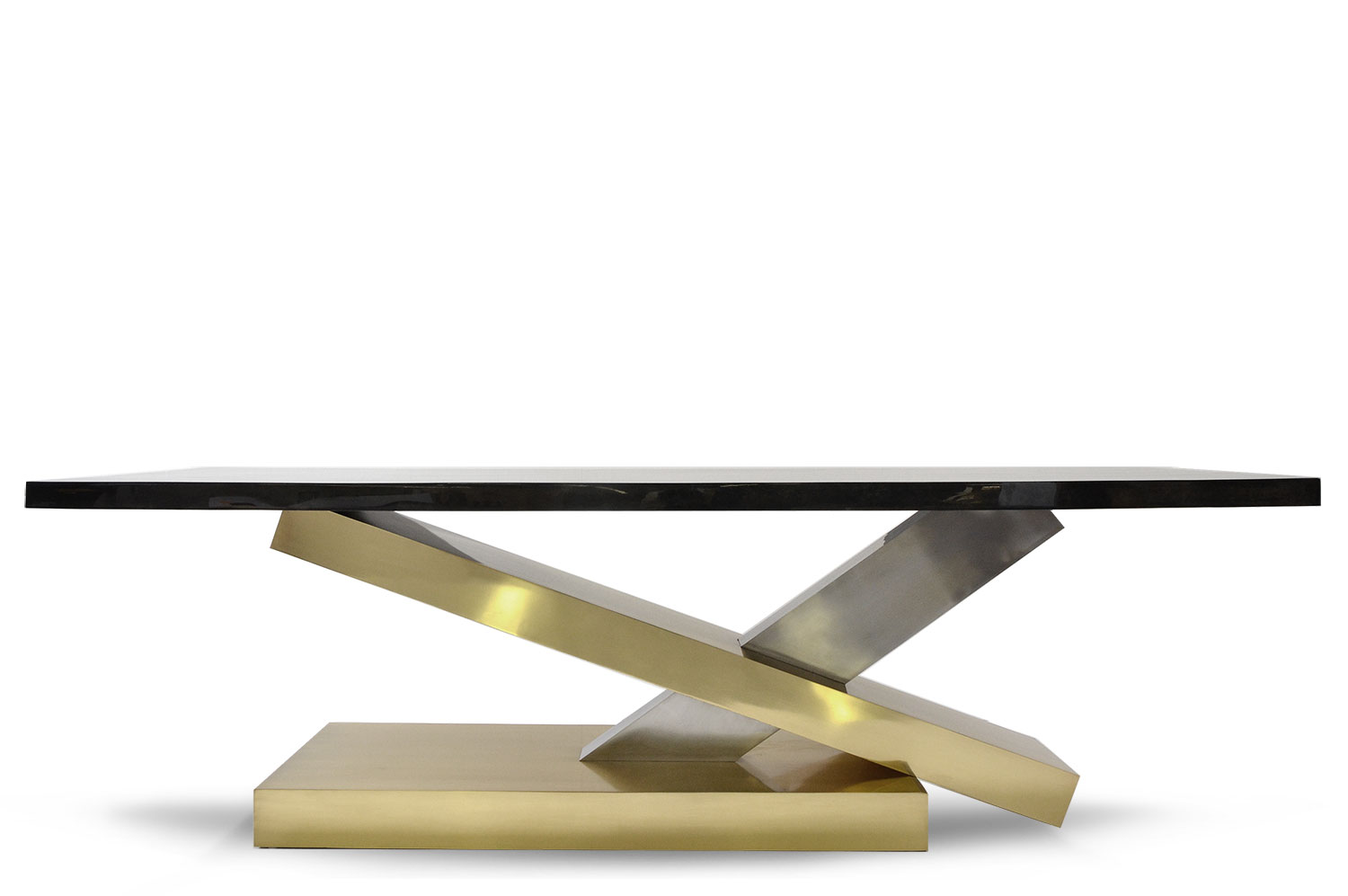 Countervail Table - Goatskin / Brass 2