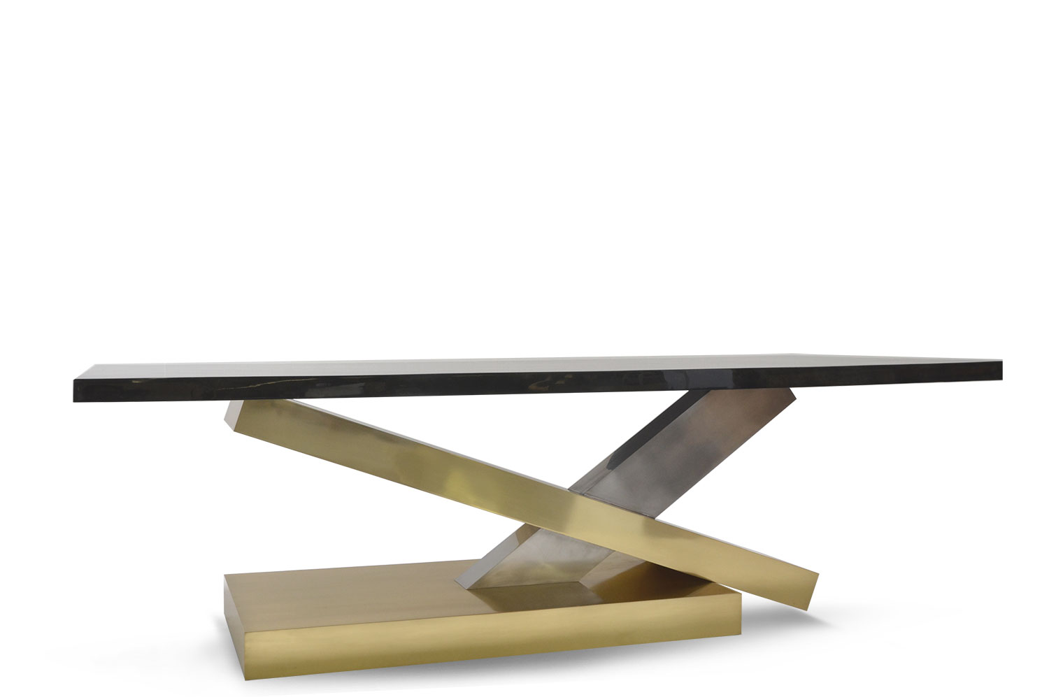 Countervail Table - Goatskin / Brass 0