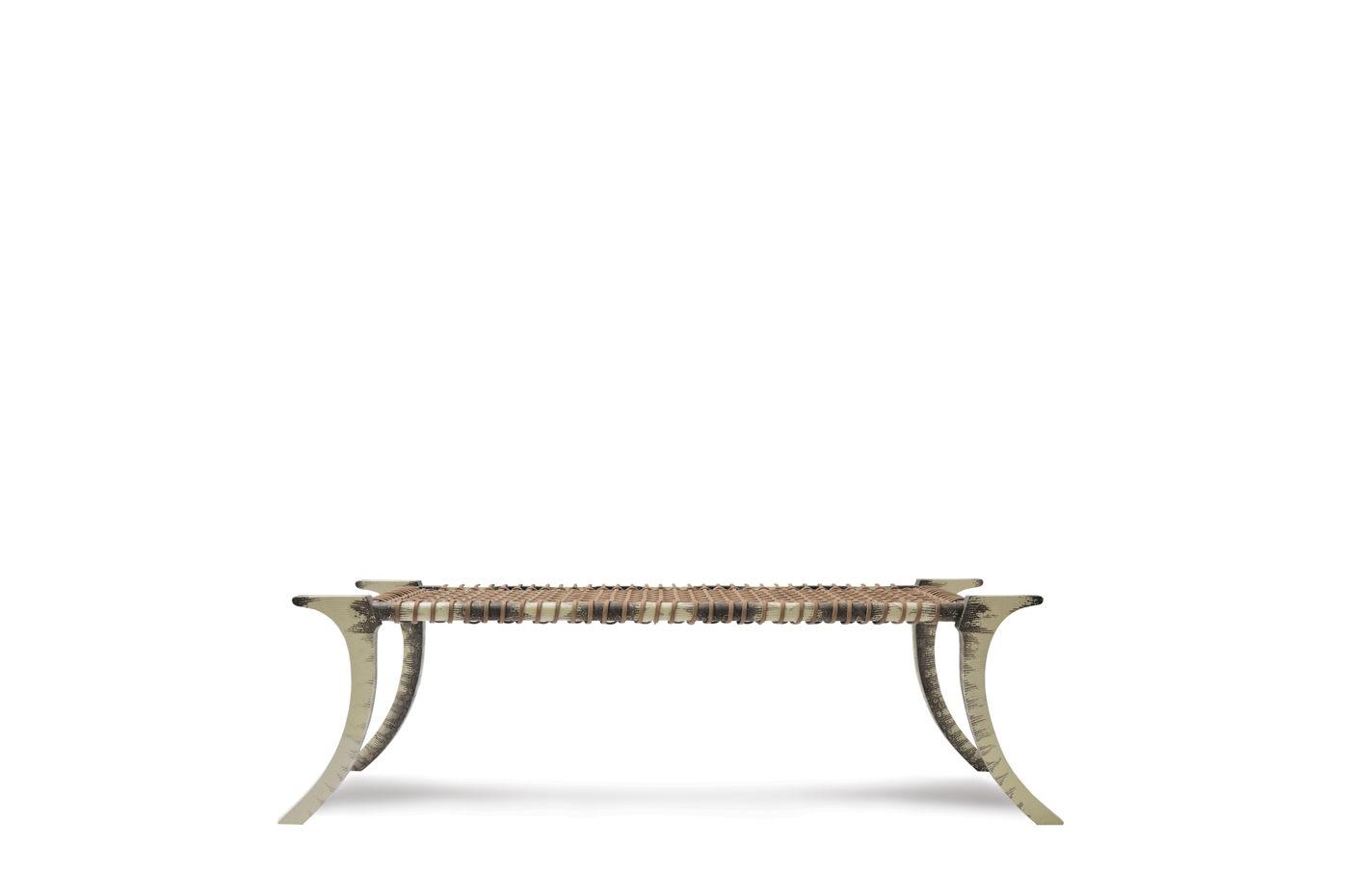 Awe Inspiring Klismos Bench Lizard Skin Scala Luxury Andrewgaddart Wooden Chair Designs For Living Room Andrewgaddartcom