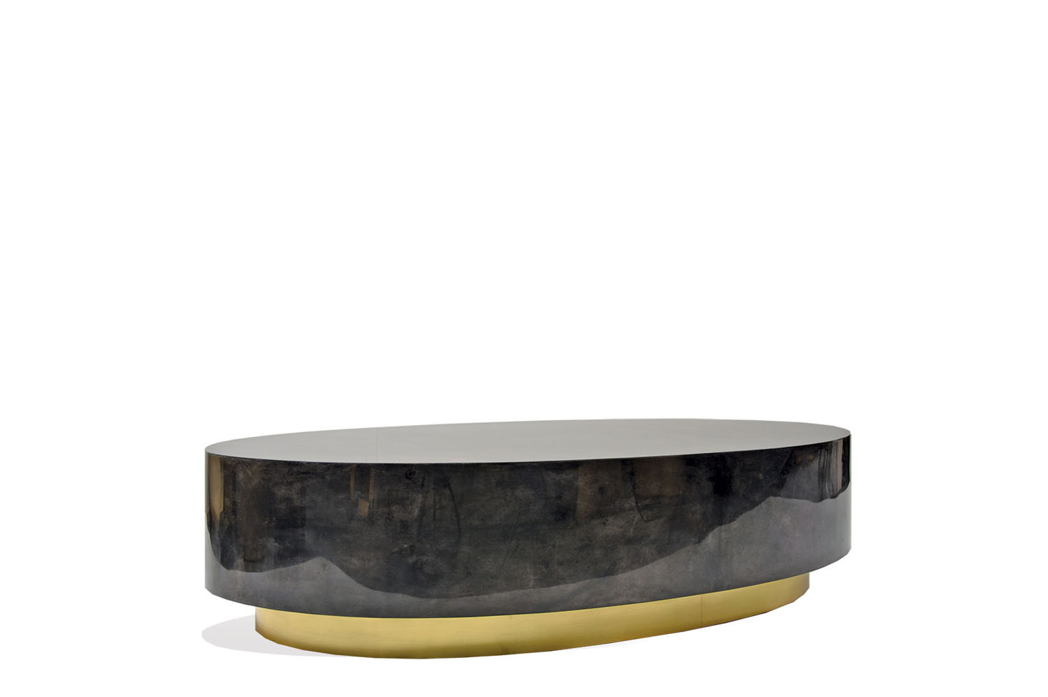 Ovallo Coffee table - Goatskin / Brass 0