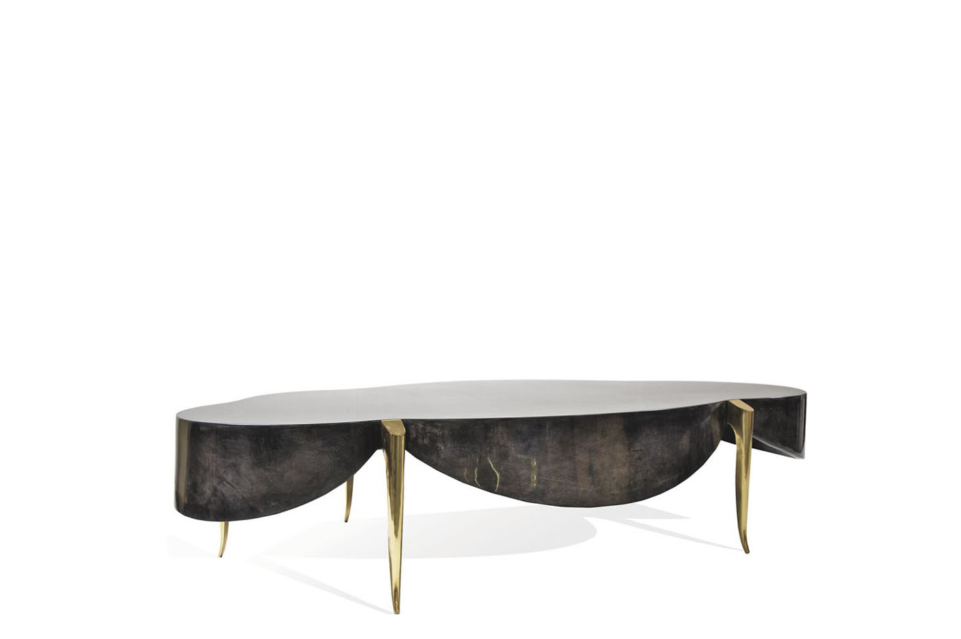 Tables desks scala luxury germain coffee table goatskin brass geotapseo Image collections
