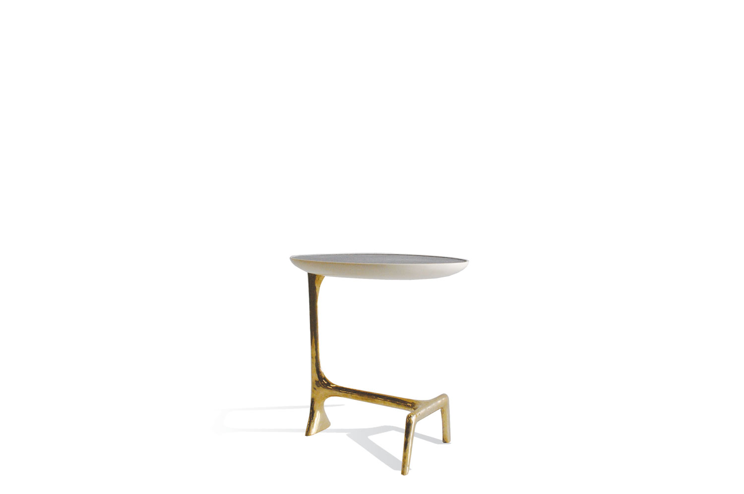 Uovo Side Table - Shagreen/Brass 0