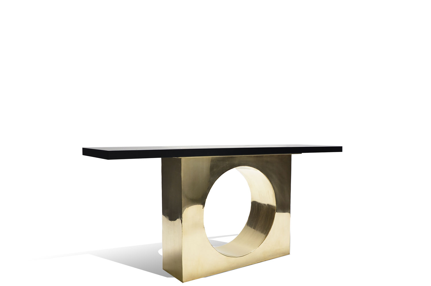 Square Hole Brass Console 0