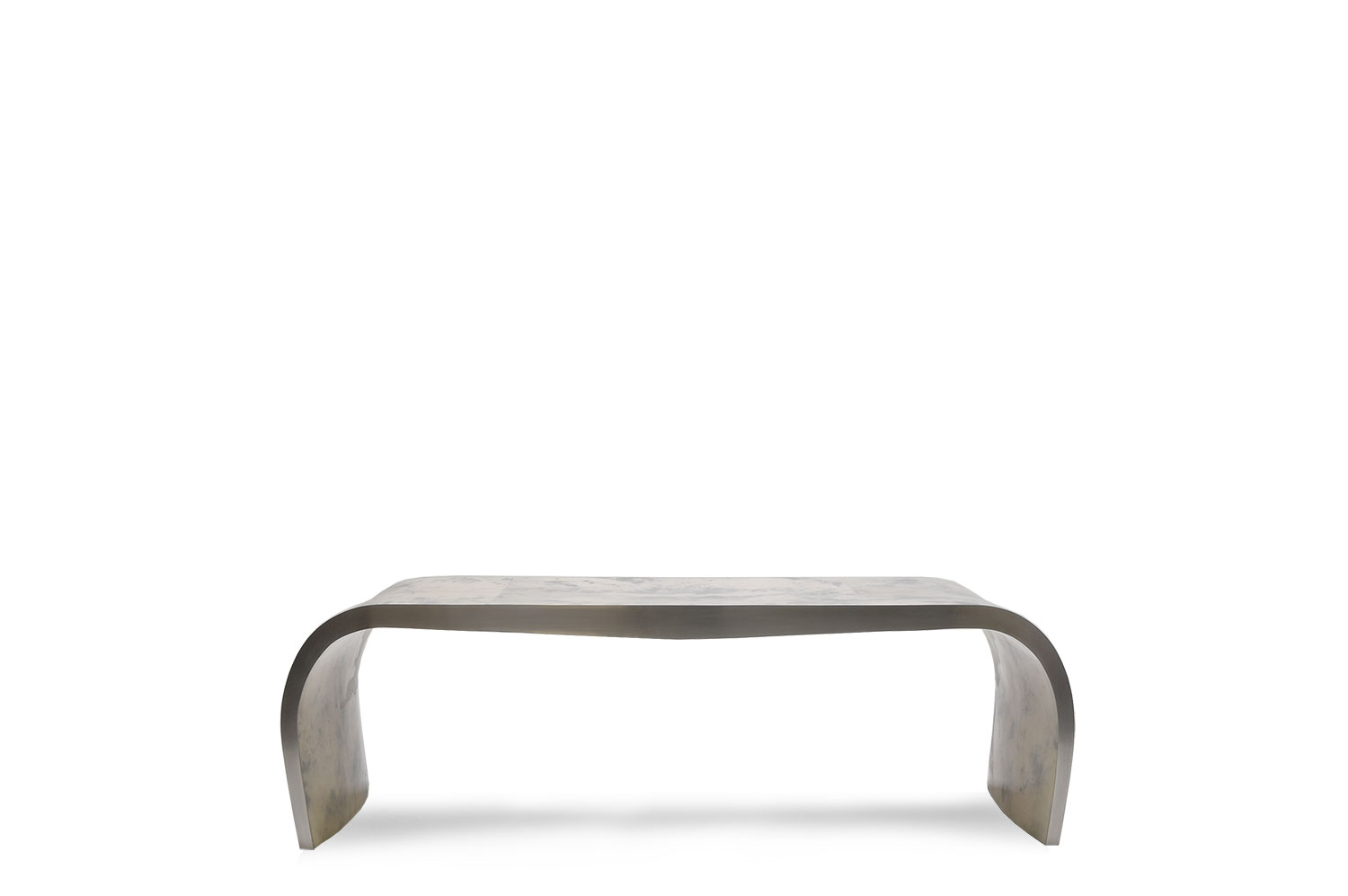 Concave Bench - Goatskin/Stainless 0