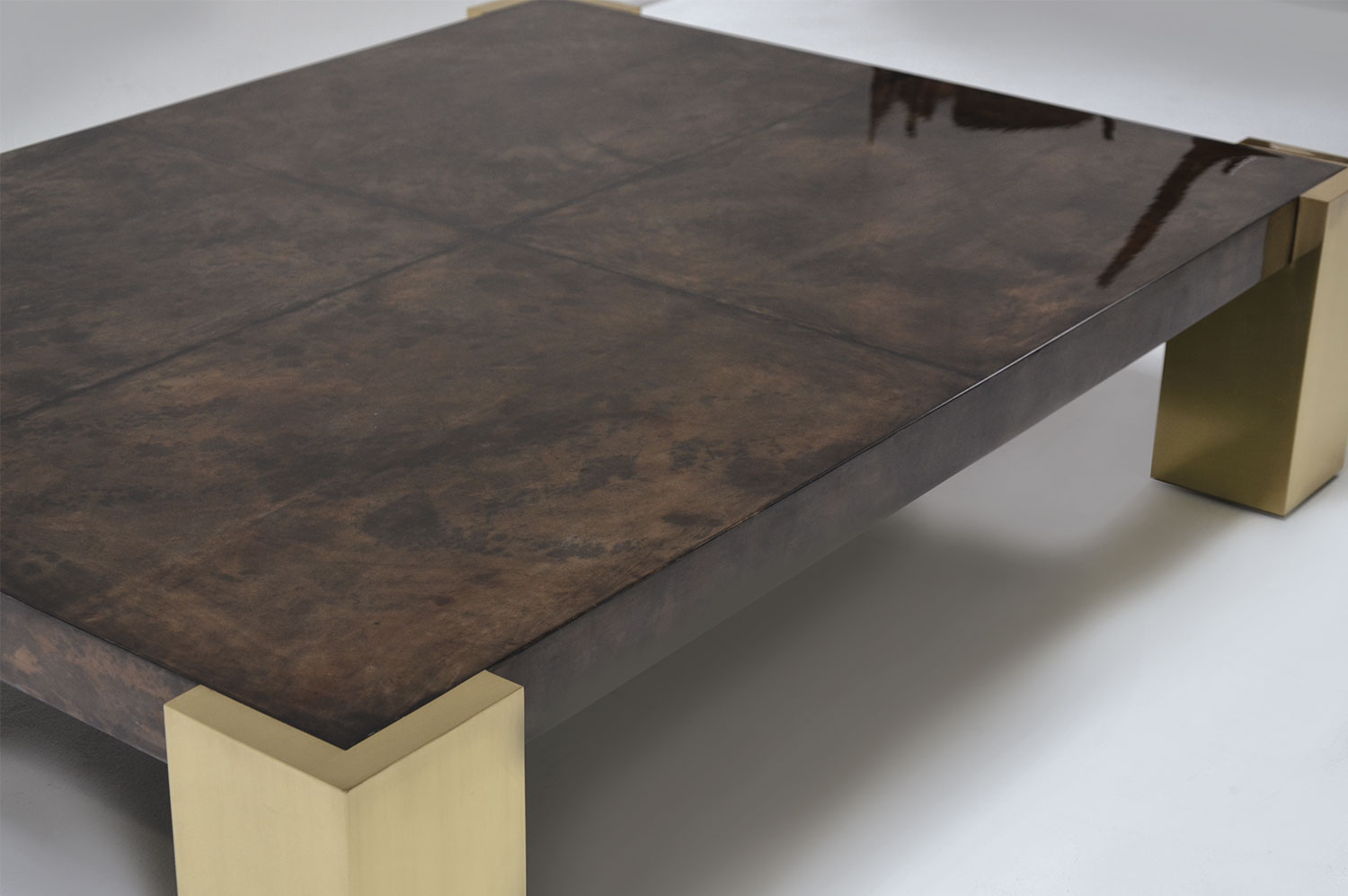 Cube Coffee Table - Brass 4