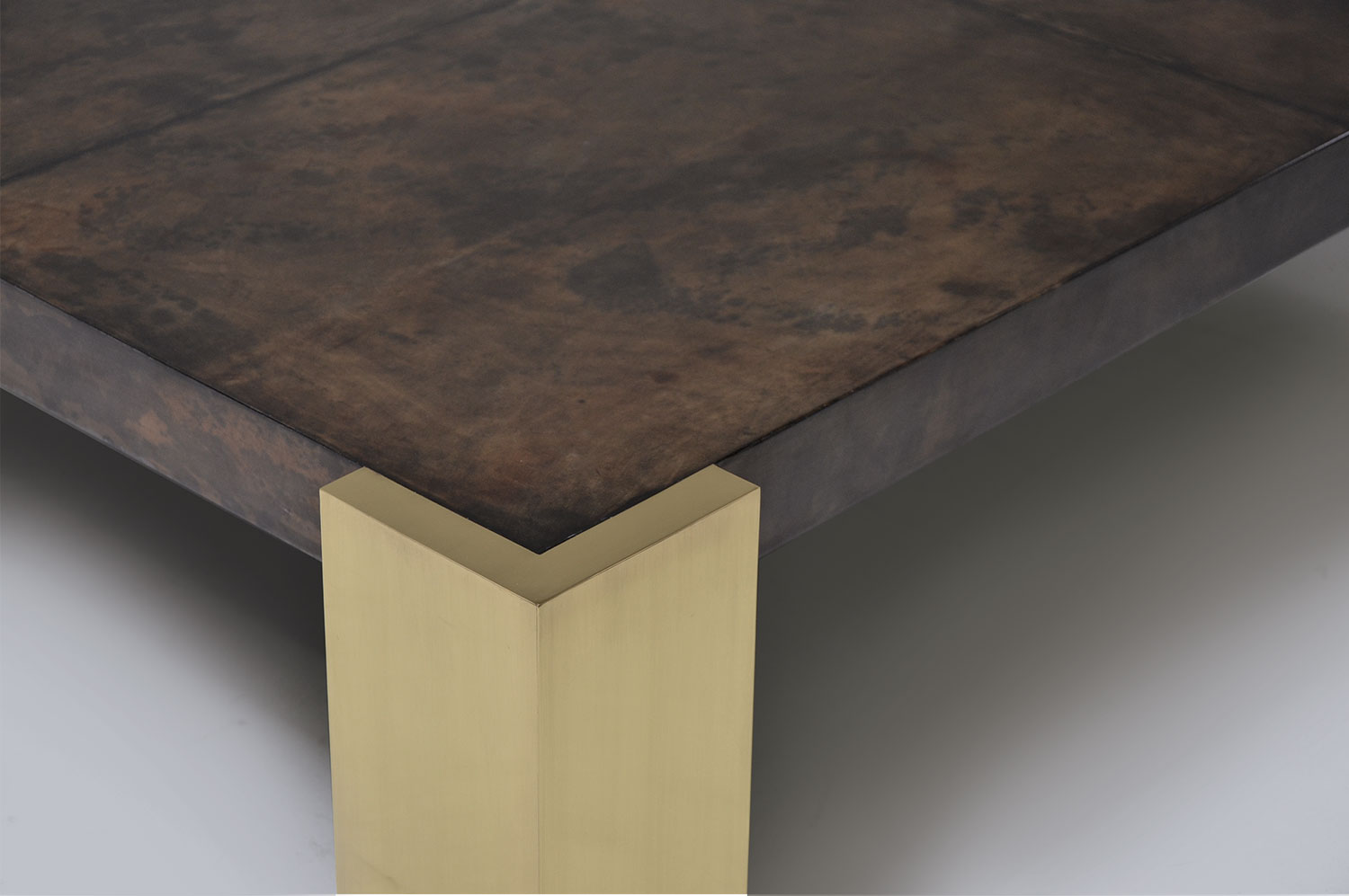 Cube Coffee Table - Brass 3