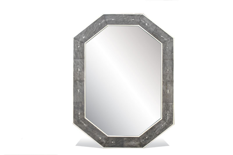 Octagon Shagreen Mirror 0