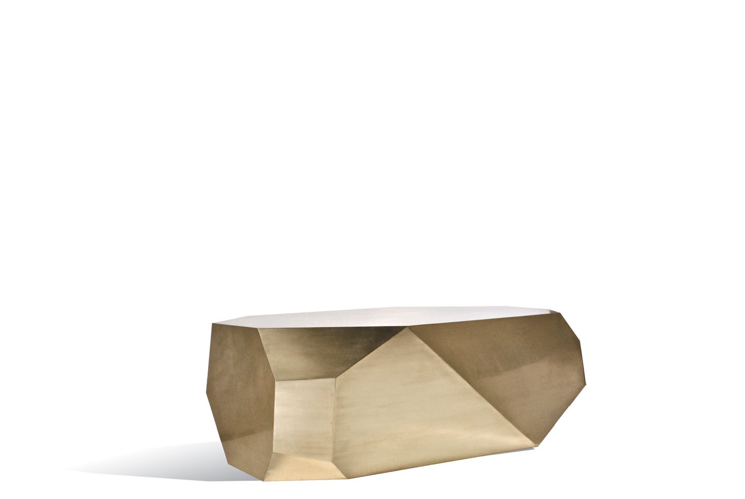 Popova Coffee Table - Brass 0