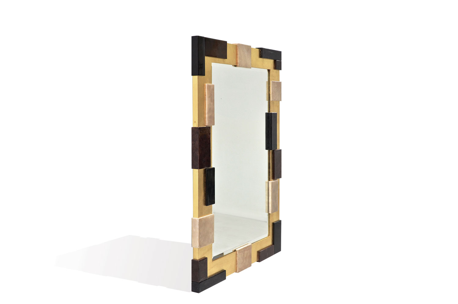 Resolution Mirror - Goatskin / Gold Leaf 2