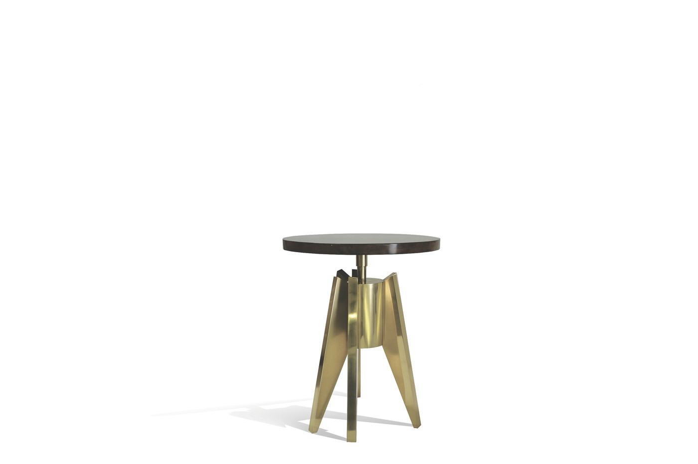 Rocket Side table - Goatskin/Brass 0