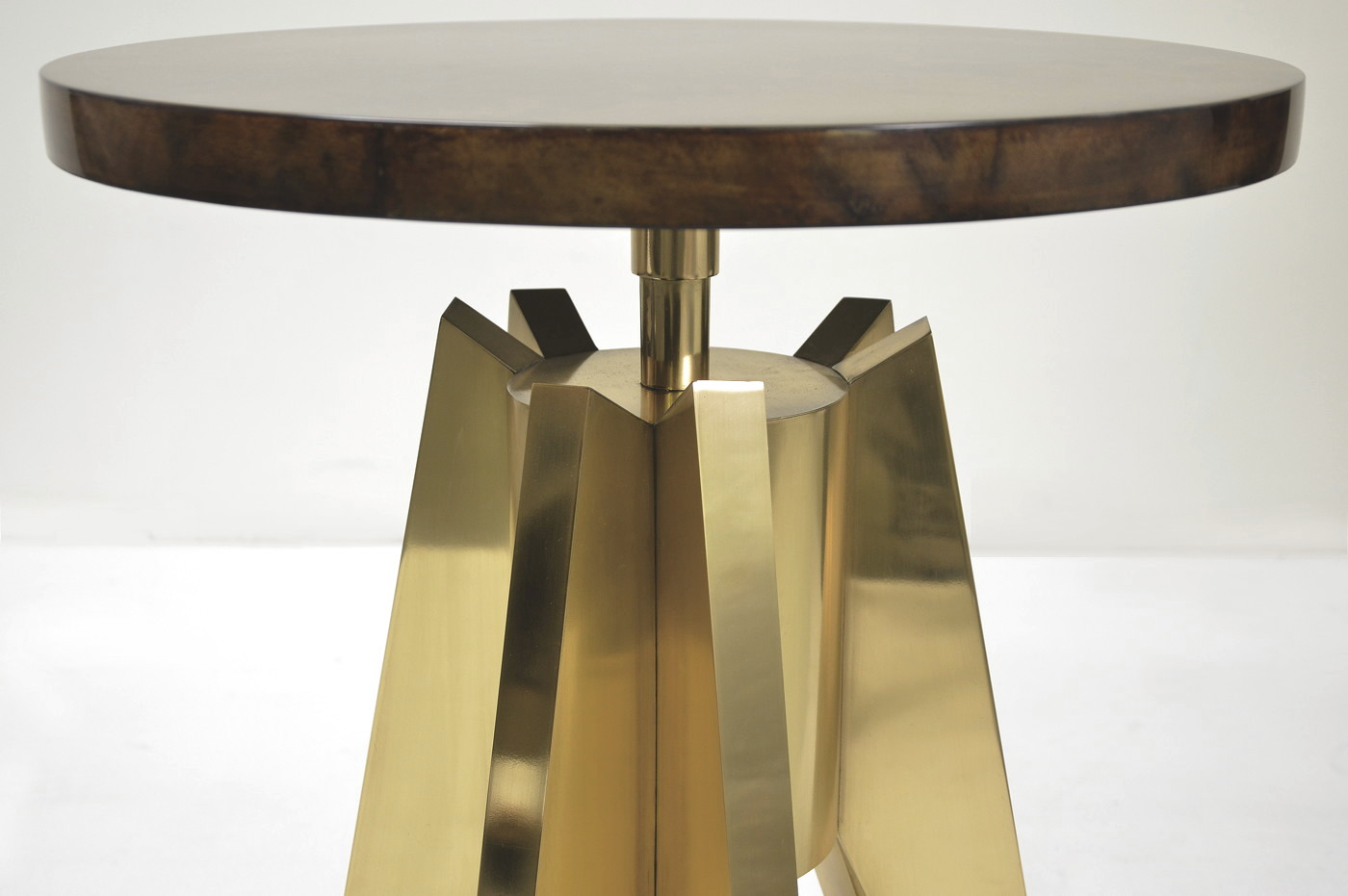 Rocket Side table - Goatskin/Brass 2