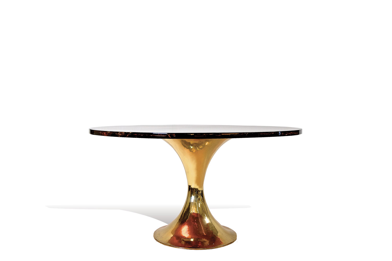 Tulip Table - Ice Resin / Brass 0